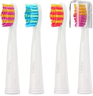 Dnsly Electric Toothbrush Replacement Heads X4 Compatible withPink Electric Toothbrush
