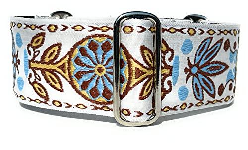 Martingale - Collar para perro para galgos saluki y otras razas con cuello similar de 5 cm de ancho (XL de 43 a 55 cm)