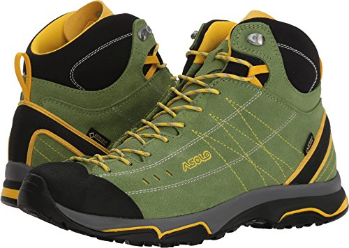Asolo Women's Nucleon Mid GV Hiking Boot English Ivy/Yellow 9