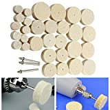 GIlH 33pcs Wool Polishing Wheel Grinder Accessories for Rotary Tool