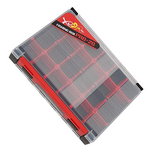 wxf PP ABS EVA Doble Capa Inserte Bait Box Tackle Lure Estuche De Almacenamiento Accesorios De Engranajes De Pesca (Negro)