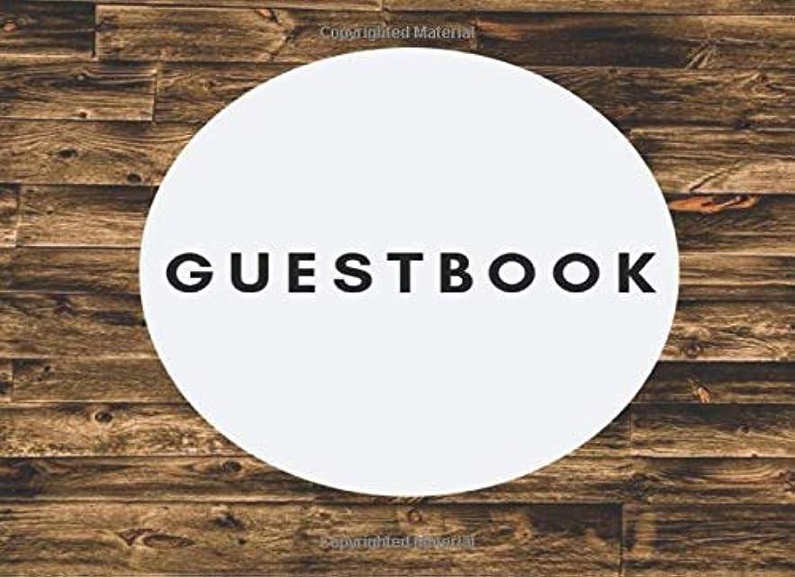 辞任する囚人クーポンGuestbook: Vacation Rental Visitor Wood Plank Guest Book for Airbnb, VRBO, TripAdvisor, Booking Guests, 120 pages