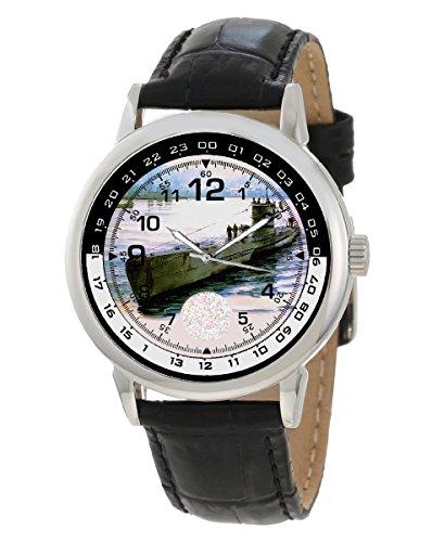 WW-II Alemania Kriegsmarine U-Boot submarino arte coleccionable reloj de pulsera