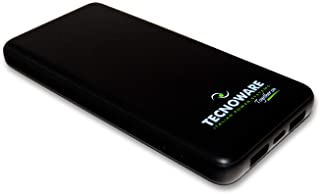 Tecnoware 10.000 mAh Portabe Charger with 2 USB Ports - Powerbank for Smartphone and Tablet (iPhone and Samsung) - Chargin...