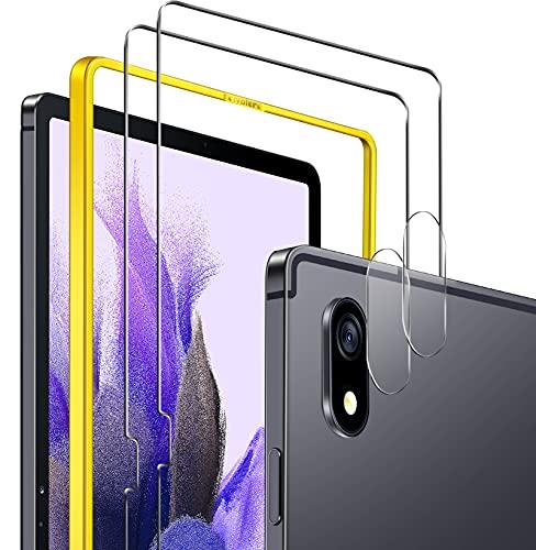 iVoler 2 Pezzi Vetro Temperato per Samsung Galaxy Tab S7 Fe 5G 12.4 Pollici (T730   T736B), con 2 Pezzi Pellicola Fotocamera e Strumento di Installazione, Pellicola Protettiva Protezione per Schermo