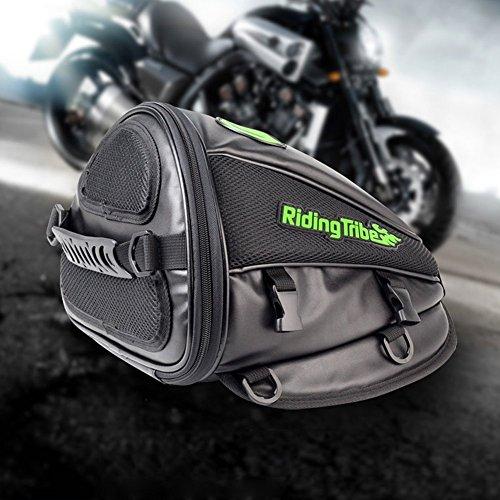 Aappy - Satteltasche für den Motorradrücksitz, multifunktional, wasserdicht, PU, Tasche aus Leder für den Rücksitz von Motorrädern, Zubehör, Tasche, schwarz