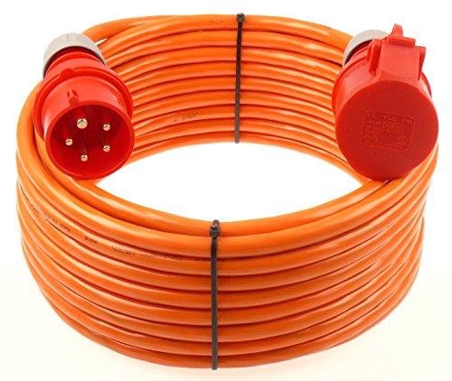 netbote24® CEE Starkstromkabel Verlängerungskabel 16A 400V Pur-Leitung mit Phasenwender H07BQ-F 5g2,5 Außen 10m