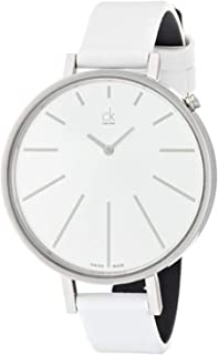 Calvin Klein ck Equal White Leather Ladies Watch K3E231L6