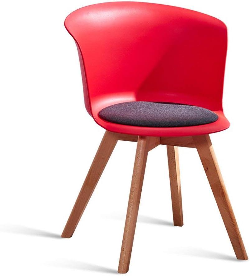 QNN Accueil Mode Nordique Créatif Blanc Chaise de Salle À Manger Maison Moderne Minimaliste Chaise de Bureau Tabouret En Bois Massif Dossier Loisirs Chaise Chaise,Bleu Rouge