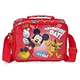 Disney Mickey Adventure Day Neceser Adaptable con Bandolera Rojo 22x17x7 cms Poliéster