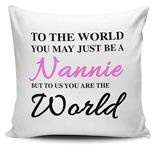 Monsety To The World You May Just Be A Nannie Pillow Covers Decorative Cushion Cover Gift For Girls 45cm x 45cm