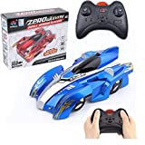 Yihao RC Anti Gravity Wall Climbing Car, Rechargeable Remote Control Racing 360 Rotating Stunt 4WD Car Electric Toys (Blue)