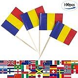 JBCD 100 Pcs Romania Flag Toot...