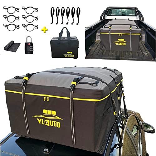 YLAUTO Rooftop Cargo Carrier Bag,20 Cubic Feet,100% Waterproof,Vans/Truck Pickup Cargo Carrier Bag...