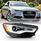 ACANII - For [HID/Xenon w/o AFS Model] 2012-2015 Audi A6 S6 LED DRL Projector Headlight Headlamp Assembly Passenger Side