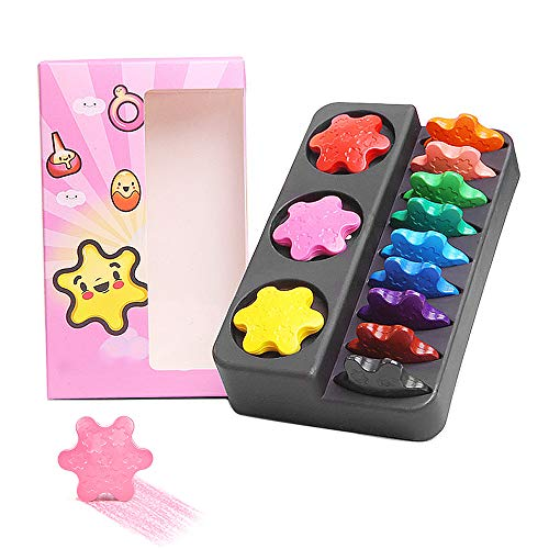 Gobesty Crayons para niños pequeños, 12 colores, lavables y seguros y no...