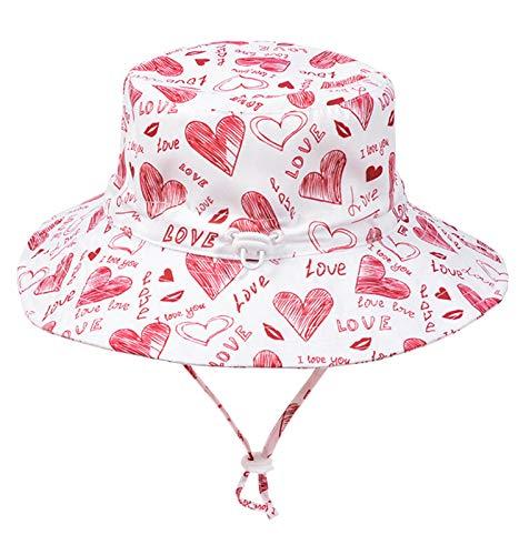 Happy Cherry UV-Hut für Babys, für Sommer, Jungen, Mädchen, Kinder, Fischermütze, Strand, Sonnenschutz, Frühling, Outdoor, Urlaub, Reise – 0 – 6 Jahre Gr. 2-4 Jahre, weiß
