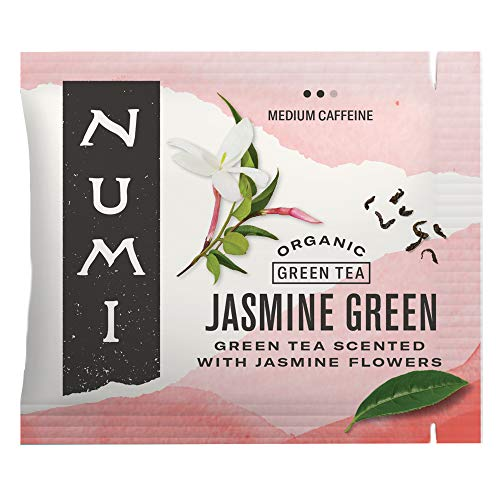 Numi Organic Tea Jasmine Green, 100 Count (Pack of 1) Box of Tea Bags (Packaging May Vary)