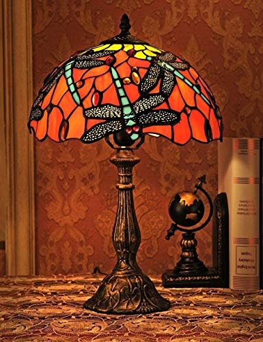 GXY Lámpara de Mesa Vidrio de 12 Pulgadas Diseño de Escritorio de...