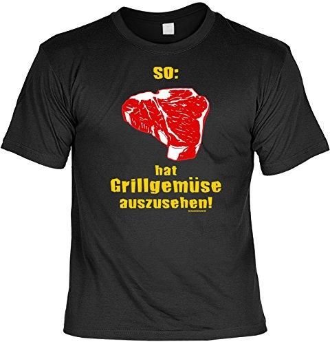 Grill T-Shirt: So hat Grillgemüse auszusehen! Schwarz, ideal für die kommende Grillsaison in diesem Sommer