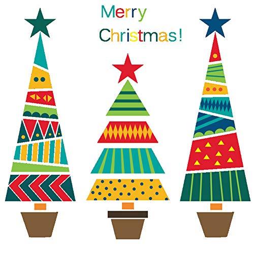 Hacoly Wandtattoo Babyzimmer Weihnachten Esszimmer Wanddeko Weihnachtsbaum Glocke Kunst Dekor Wand Aufkleber Wohnzimmer Dekoration Wandtattoo Wandsticker-Weihnachtsbaum 1