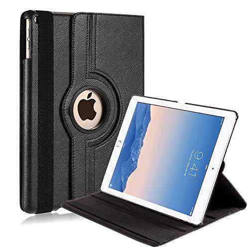 Capa Ipad Air 2 Apple A1566 A1567 A1568 Couro Sintético Giratória Preta
