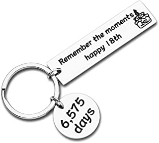 18th Birthday Gifts Keychain for Son Daughter Teenage Girls Boys from Dad Mom Young Men Women Birthday Gifts Key Ring for Boyfriend Girlfriend Him Her Best Friends BFF Teens Sisters