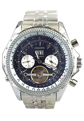 ORKINA kc082-s-silver/Blue Herren Armbanduhr Farbe Silber