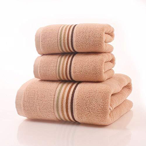 CXBHB Asciugamano da Bagno di qualità alberghiera segmento di Colore Cotone 100% Regalo Confezione Regalo in Tre Pezzi 1 Asciugamano da Bagno + 2 Asciugamani