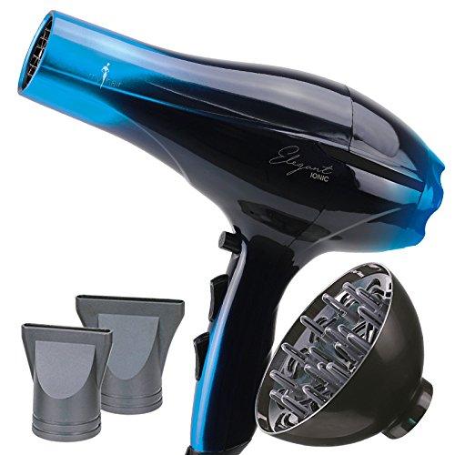 Secador de Pelo Profesional Ligero Potente Elegant Iónico 2000W Azul (Blue) con Difusor - My Hair