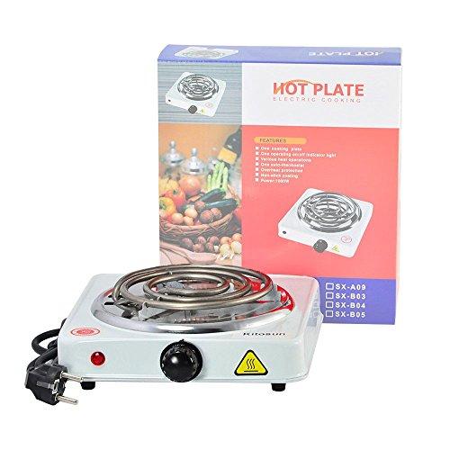 Elektrischer Kohleanzünder Shisha Kohle 1000W Kokosnussschalen Natur-Kohle Brenner Heizplatte E-Heater (Weiß)