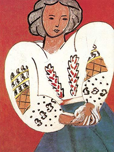 JH Lacrocon Gemälde Handgemalt Die Rumänische Bluse von Henri Matisse - 70X90 cm Mensch Leinwand Bilder Gerollte Reproduktionen Kunst Fauves (Wilde Bestien) Poster