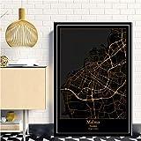 QYQMYK Leinwand Bilder,Malmö Schweden Stadtkarte Groß