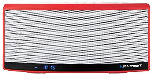 Blaupunkt BT10RD Tragbar Bluetooth Lausprecher Sprecher mit NFC, Radio, MP3-Player Micro SD (32GB), Akku 1300mAh, Powerbank LCD-Display