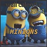 wall calendar 2021 MINIONS: 3Dmovie Minions 16 Months wall calendar 2021 8.5'x8.5' Glossy