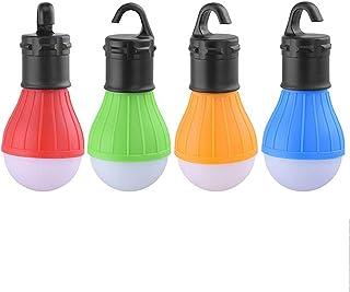 COLFULINE Lampe de camping LED USB rechargeable Lampe de camping 4 modes SOS /étanche Lampe de camping avec crochets aimant/és pour t/él/éphone portable Power Bank