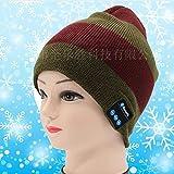 XLLJA Bluetooth Cuffie Senza Fili Cappello Bluetooth Beanie Hat Cappello Music Unisex Berretto Caldo Morbido Maglia Tappi per Uomini e Donne Regalo di Natale Invernale Sport Correre Sci