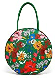 ban.do Green Floral Go Outside Insulated Picnic Cooler Bag, Soft Sided Cooler with Interior Pocket and Zip Closure, Superbloom