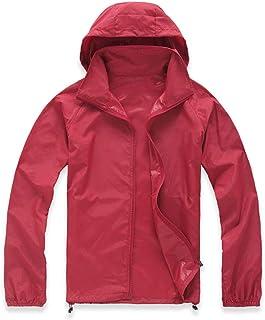 Lanbaosi Women's Super Lightweight Uv Protect+Quick Dry Waterproof Skin Jacket XXX-Large Dark Red