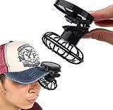 Gwill Portable Mini solarbetriebene Clip Fan Bergsteigen Camps, Wildnis Überleben, Sommer Must-Have Hut Kappe fein
