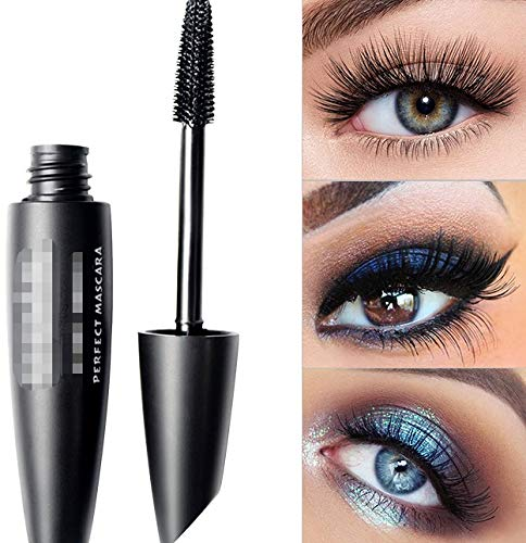 MJS Curling Waterproof Mascara Black Concentrated Eyelash Cosmetics Extended Curling Eyelashes Thick and Quick Dry (Color : 1)