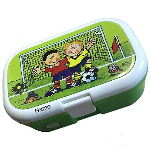 Lunchbox * FRITZ FLANKE plus WUNSCHNAME * für Kinder von Lutz Mauder // Fußball Brotdose mit Namensdruck // Perfekt für Jungen // Vesperdose Brotzeitbox Brotzeit (mit NAMEN)
