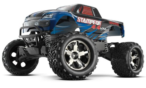 Traxxas 67086-4 Stampede 4X4 1/10 Monster Truck with TQi 2.4GHz Radio/TSM, Blue -  670864T1