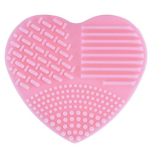 Bureze Brosse de Maquillage en Forme de cœur pour Fond de Teint, Gant de Nettoyage en Silicone, nettoyant en Gel de Nettoyage, cosmétiques, Outils de beauté