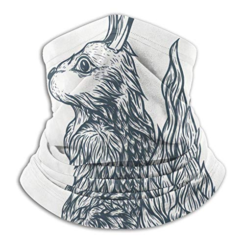 Máscara de conejo sin costuras para cuello, protector solar UVpara entrenamiento reutilizable