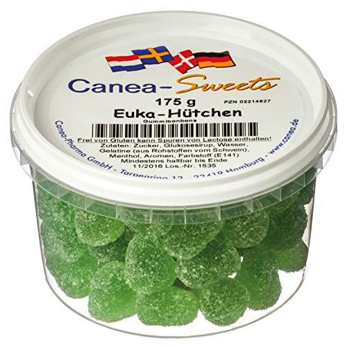 Canea-Sweets Frische Menthol-Fruchtgummis, EUKA HÜTCHEN Dose, 1er Pack (1 x 175 g)