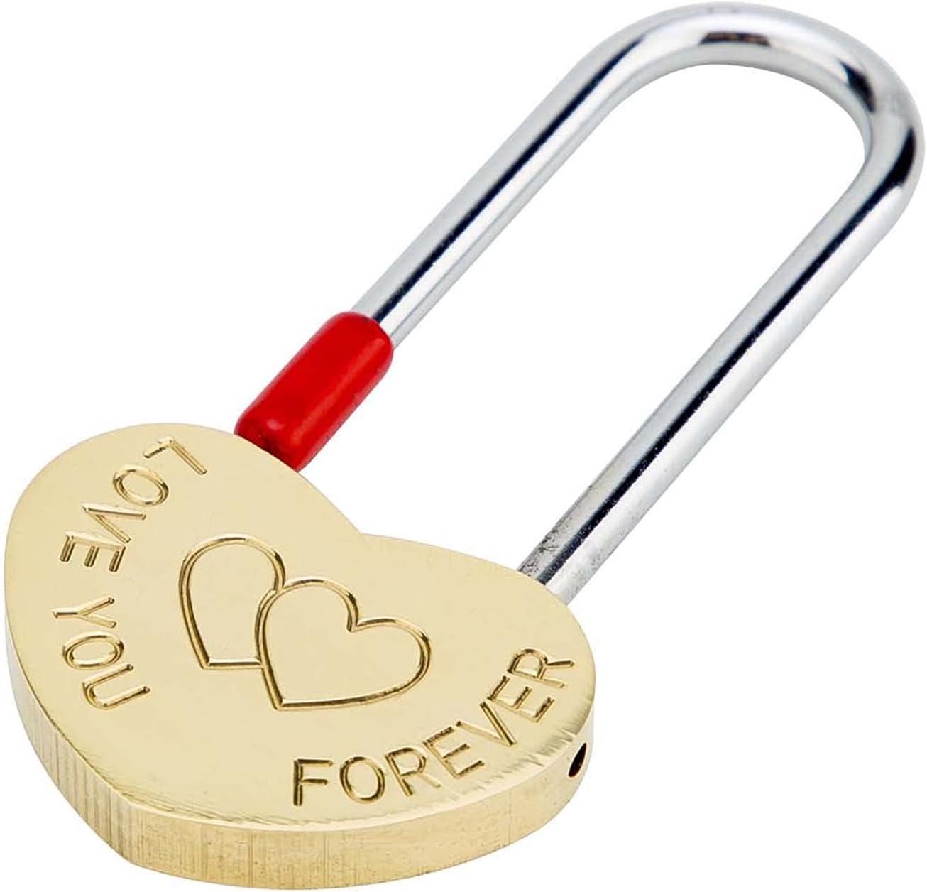 safety VerSail VeYocilk Love Lock Heart Engraved San Francisco Mall 3.5 Padlock: Love-You-