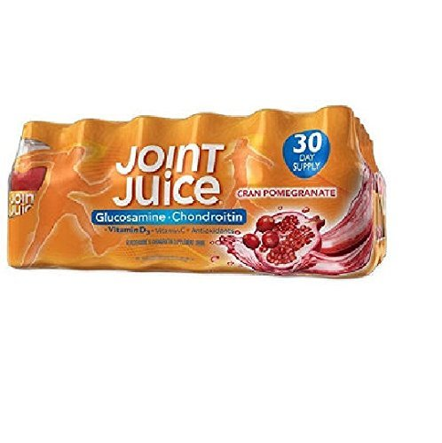 Joint Juice Supplement Glucosamine and Chondroitin Drink Cranberry Pomegranate 2Pack (8 oz. Bottles, 30 pk.) All Important Electrolytes -