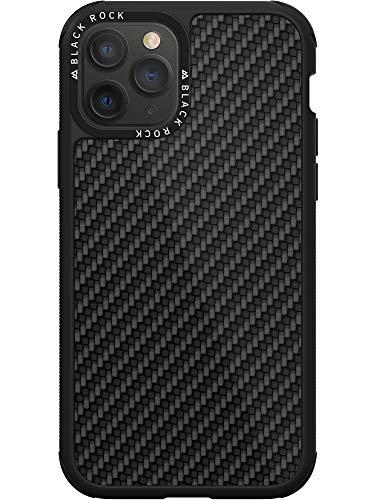 Black Rock - Robust Hülle Real Carbon Hülle für Apple iPhone 11 Pro | Kameraring, Karbon, High-Tech-Fasern (Carbon Schwarz)