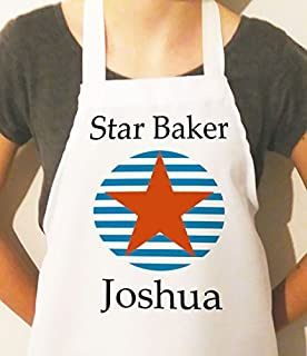 Personalized Star Baker Apron Novelty Cotton Craft Cooking Aprons for Kids Children Boys Girls Birthday Gifts Funny